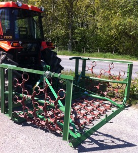 MTL 4m hydraulic folding grass harrows for sale – SOLD OUT