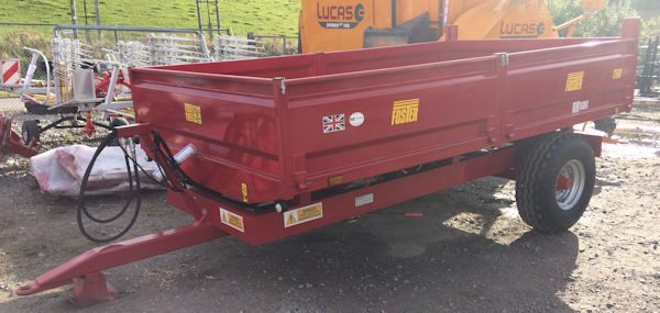 Foster T60 6 tonne steel bodied dropside tipping trailer for sale