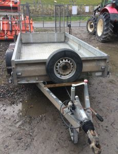 Protech 2600kg gross 10ft Plant trailer for sale