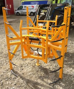 MTL Double Straw Hay bale stacker handler, euro fittings for sale