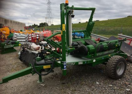 McHale 991BE trailed electronic self loading wrapper