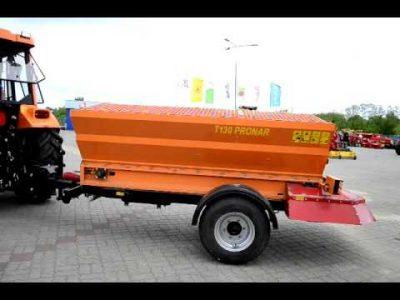 Pronar T130 trailed salt sand spreader for sale