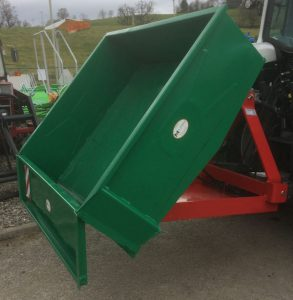 MTL 1.5m 3 point linkage hydraulic tipping transport box for sale