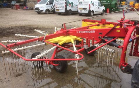 Pottinger TOP421 4.2m single rotor rake for sale – SOLD