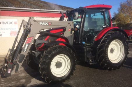 Valtra N114H5 125hp tractor with loader for sale