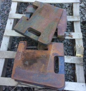 Tractor front leaf weights for sale