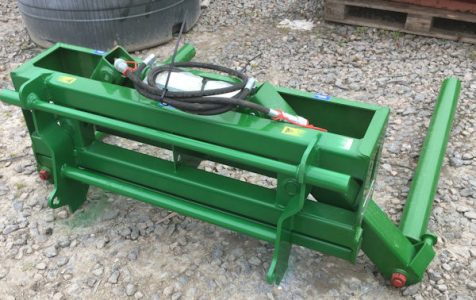 McHale 691 silage bale handler with MX Chillton hooks for sale
