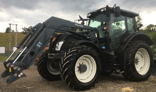 Valtra N113 130hp Hitech 5 tractor with loader for sale