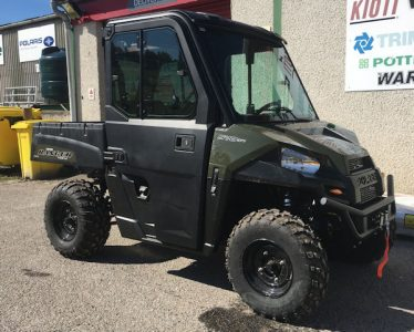 Polaris Ranger 570 2 seat ATV with cab & winch for sale