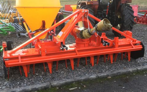 MTL RP150-300 3m rotary power harrow with packer roller for sale