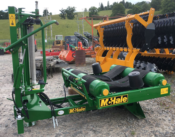 McHale 991LBER mounted bale wrapper with radio remote control for sale – SOLD